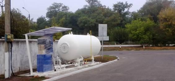 Газова заправка у центрі м. Баштанка